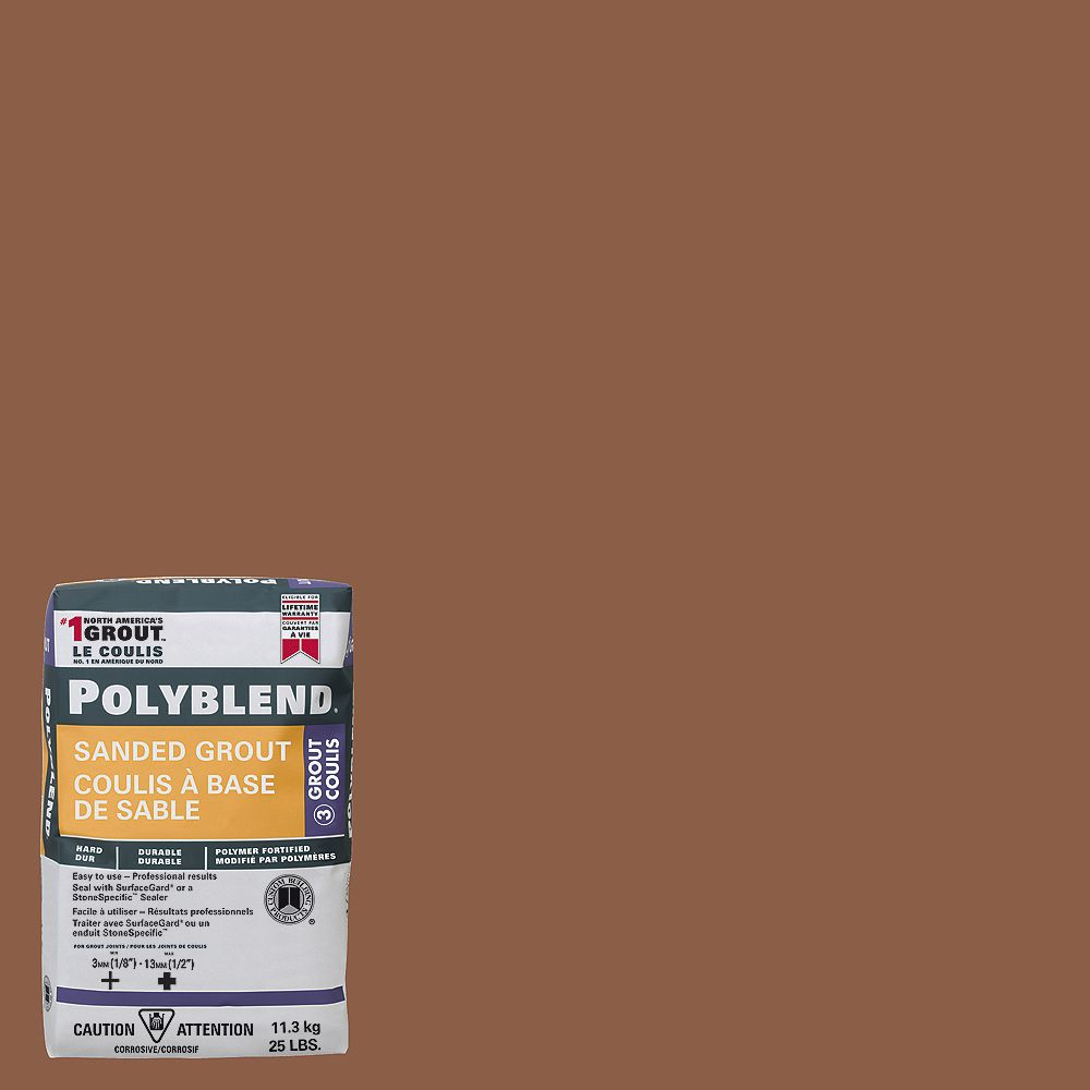 Custom Building Products #384 Camel - Polyblend Sanded Grout - 25lb