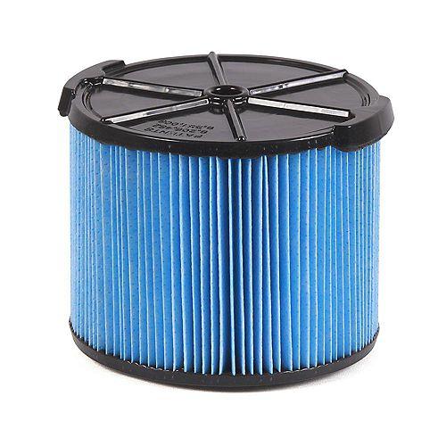 Filtre pour poussières fines pour les aspirateurs sec/humide 11 à 17 l (3 à 4,5 gal.)
