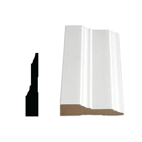 Alexandria Moulding 3/4-inch x 3 1/2-inch MDF Primed Fibreboard Step Casing