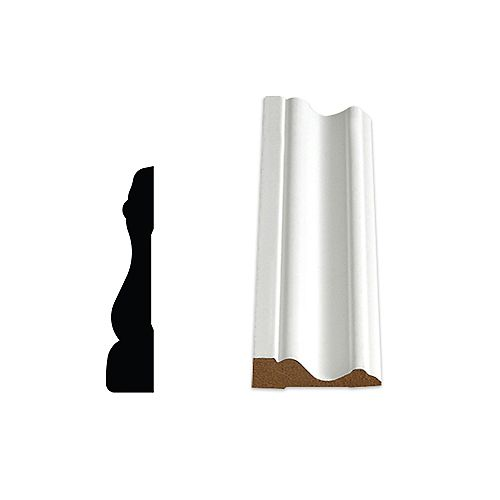 Alexandria Moulding 5/8-inch x 2.3/4-inch x 85-inch Colonial MDF Primed Fibreboard Casing