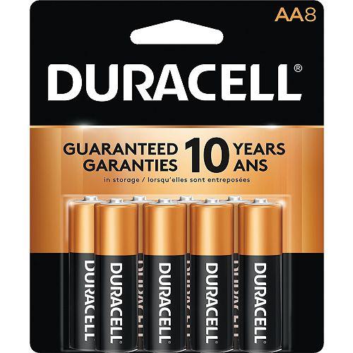 Coppertop AA Alkaline Batteries 8 count