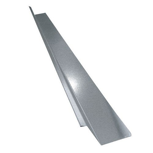 Peak Products 2-inch x 7/8-inch x 3/8-inch Galvanized Steel Drip Flashing, 10 ft. L