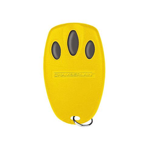 Yellow Mini Three-Button Remote Control