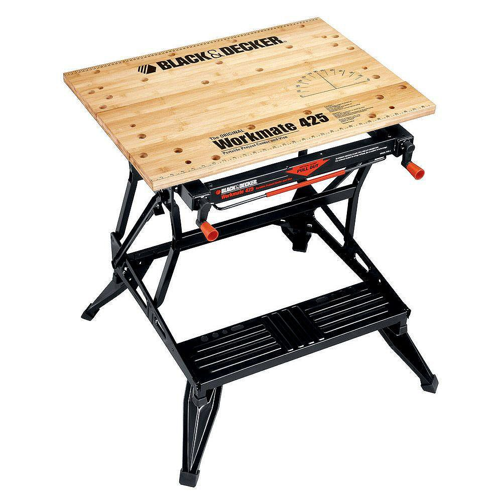 Black+Decker Workmate 425 30-inch Folding Portable Workbench and Vise WM425