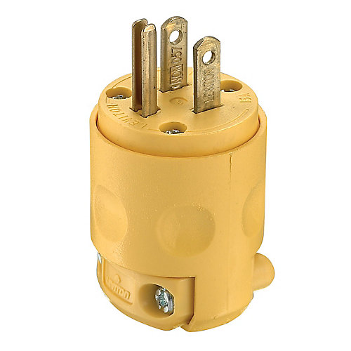 PVC Plug 3-Wire, Yellow