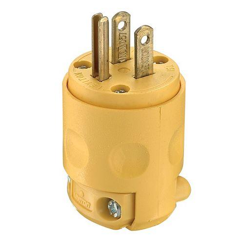 PVC Plug 3-Wire, Yellow