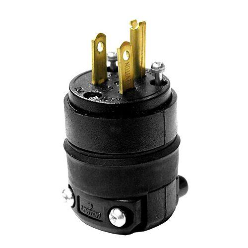 Rubber Plug 3-Wire, Black