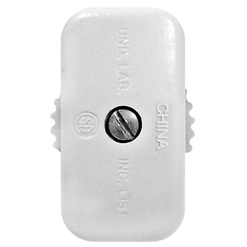 Feed-Through Switch Mini, White