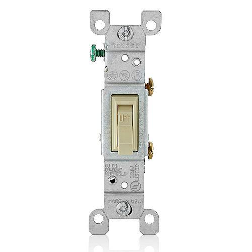 Single-Pole Toggle Switch, Ivory