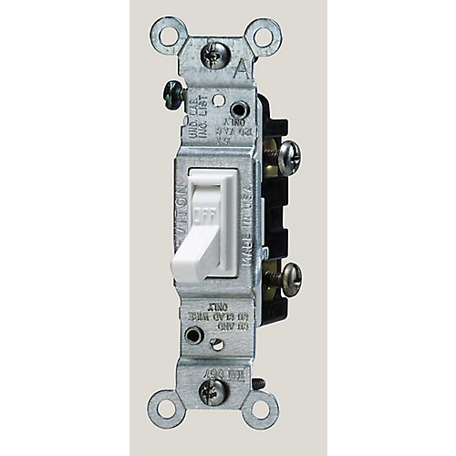Single-Pole Toggle Switch,  White