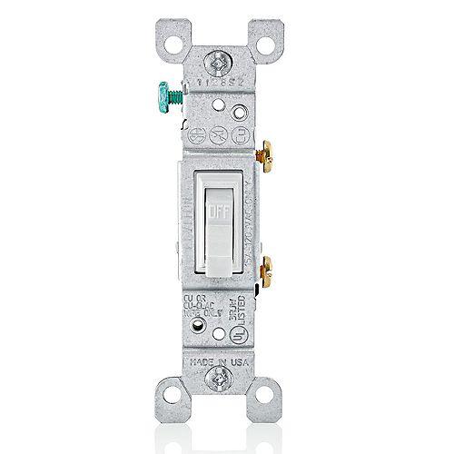 Interrupteur À Bascule, Unipolaire, Blanc