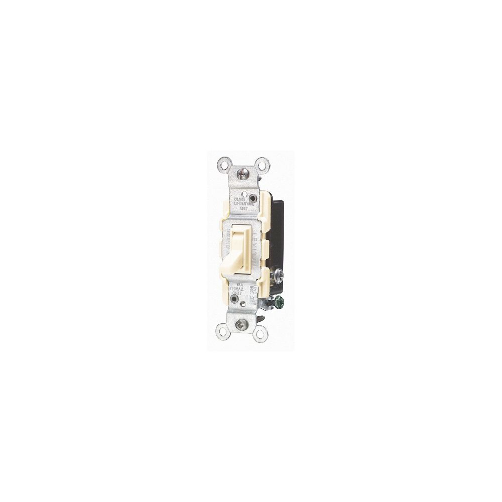 Leviton 15 Amp 3-Way Quiet Wall Switch Ivory