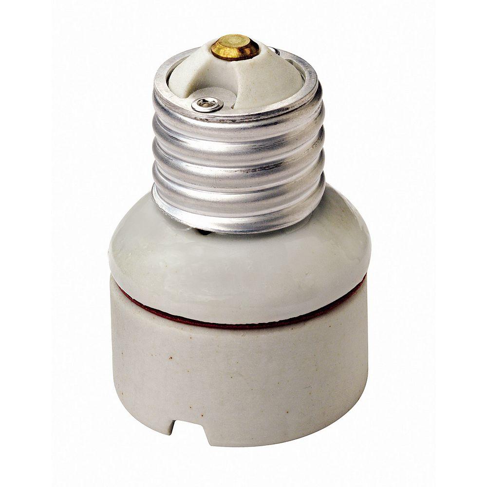Leviton 2-Piece Porcelain Medium To Medium Lamp holder Socket Extension