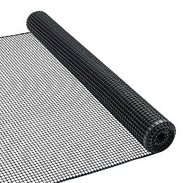 15 ft. L x 36-inch H Plastic Fencing in Black (1/2-inch x 1/2-inch Mesh Size)