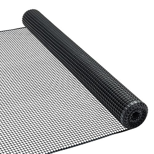 Peak Products 15 ft. L x 36-inch H Plastic Hardware Mesh in Black with 1/2-inch x 1/2-inch Mesh Size