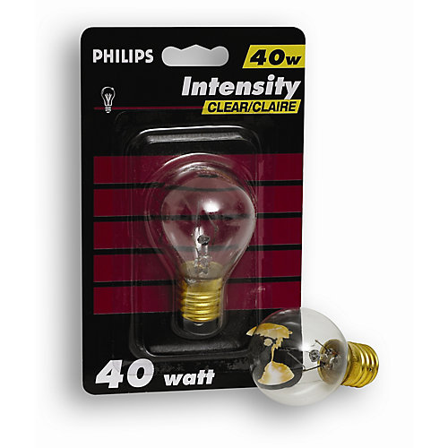 À incandescence S11 40 W À haute intensité 40 W 120 V