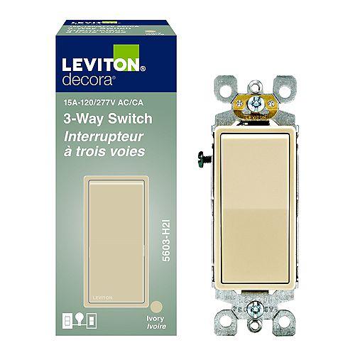 Decora 3 Way Switch, Ivory
