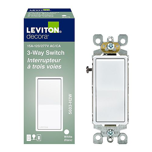 3 Way Decora Switch - White