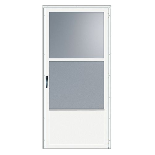 34-inch W 75 Series Venting White Screen Door with Black Hardware