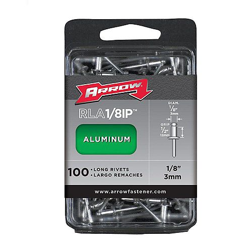 """Long aluminum 1/8"""""""" rivet (100-Pack)"""