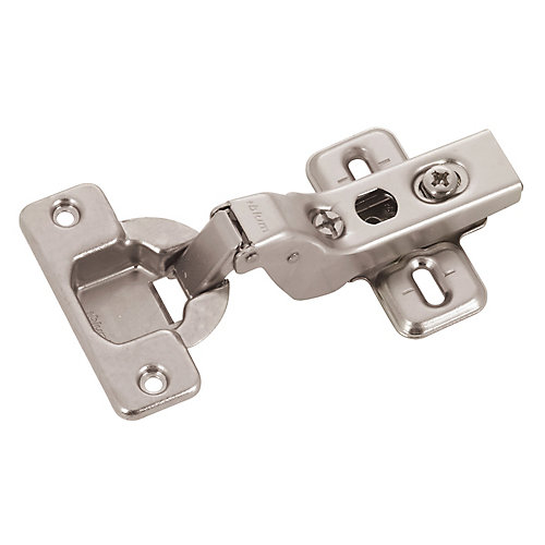 Inset Overlay Clip Hinge with Plate - 100 Degree