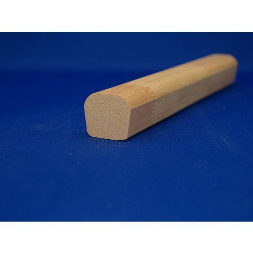 Alexandria Moulding Main courante jointée, en pin 1 7/16 x 1 5/8