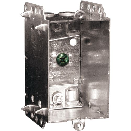 Device Box Single Gang 12.5 In. Cu, Welded