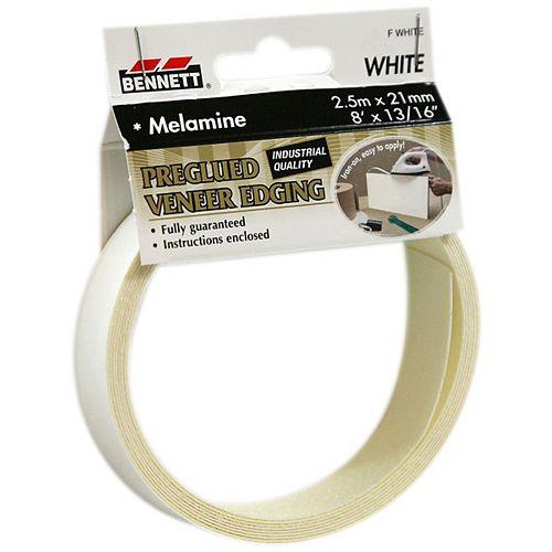 8 Feet x 13/16-inch White Pre-Glued Melamine