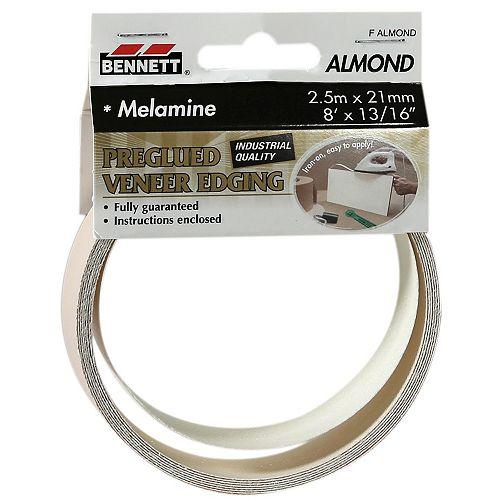 8 ft. x 13/16-inch Pre-Glued Almond Melamine Edging