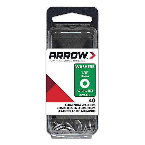 """Rondelle 1/8"""" aluminum d 'Arrow"""