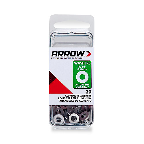 """Rondelle 3/16"""" aluminum d 'Arrow"""