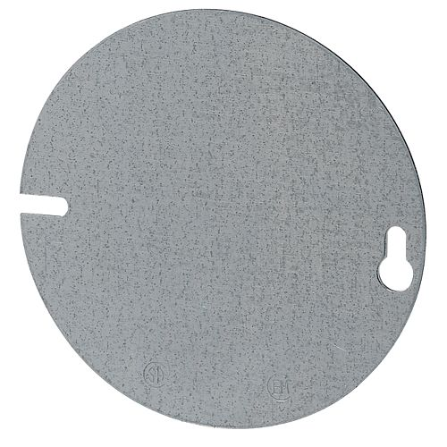 4 In. Round Blank Flat Cover