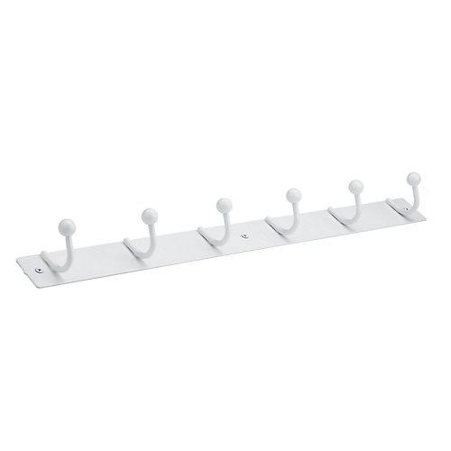Utility Hook Rack, White