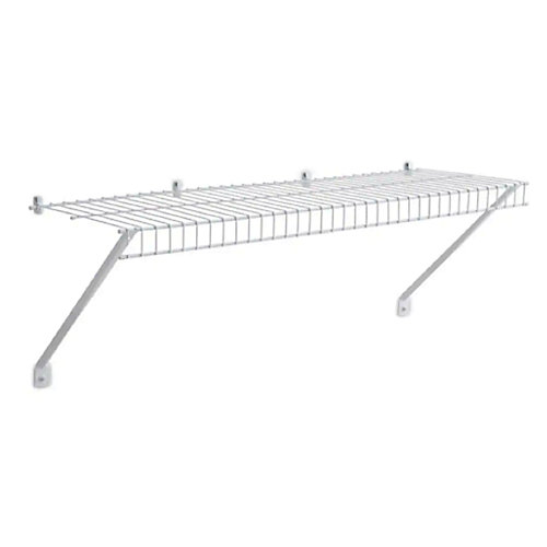 12-inch x 3 ft. Linen Shelf with Installation Hardware