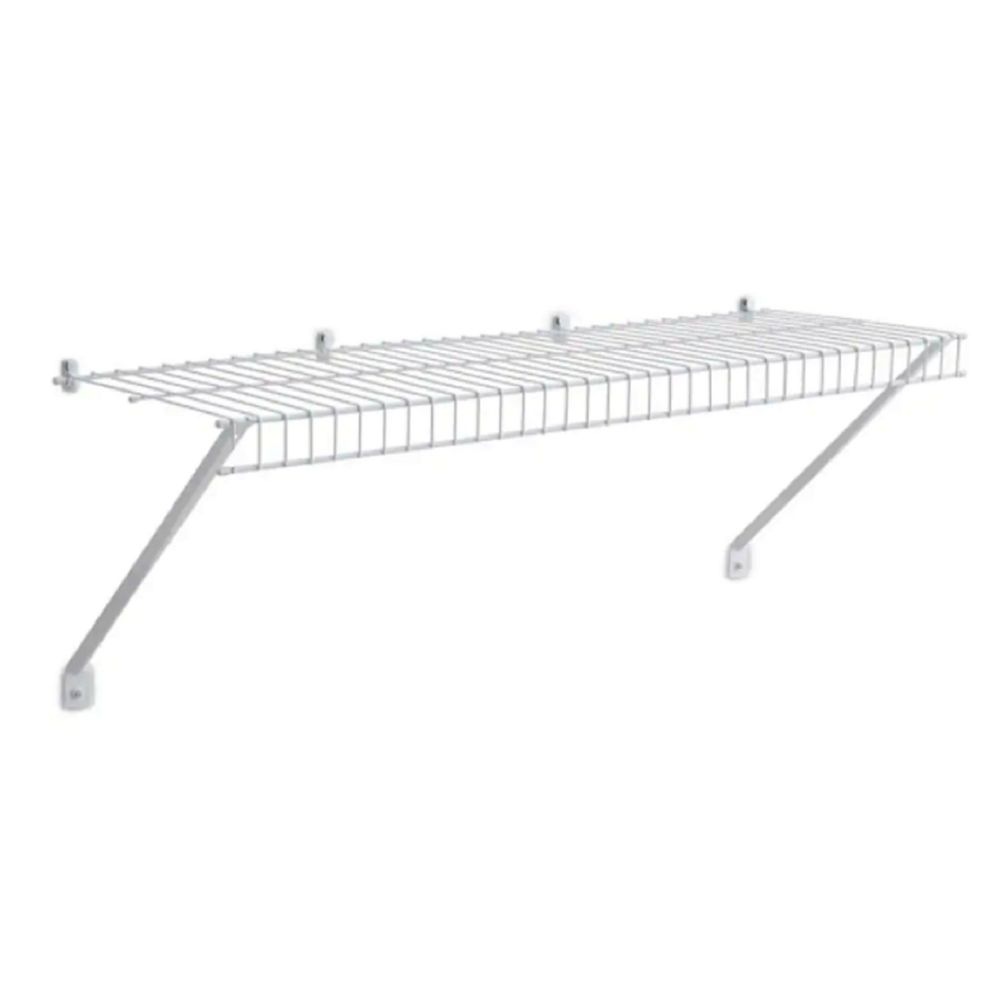 Rubbermaid 12-inch x 3 ft. Linen Shelf with Installation Hardware