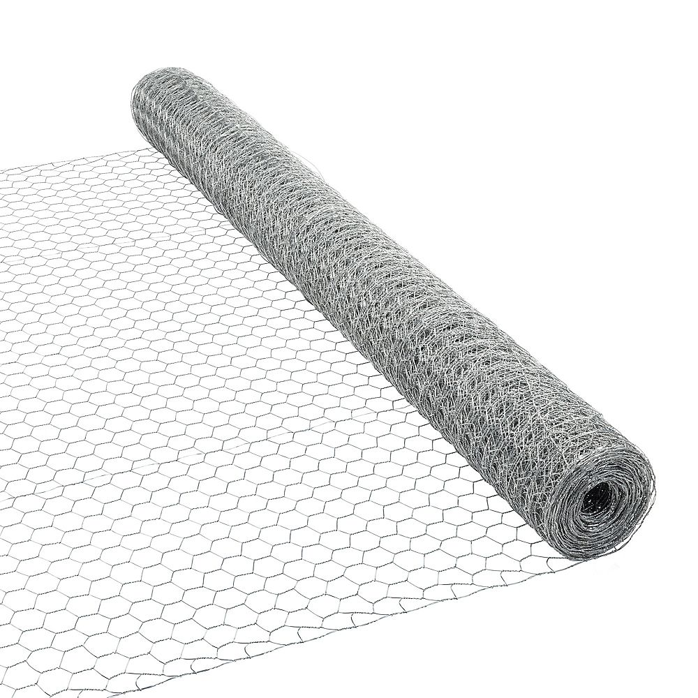 Peak Products 50 ft. L x 48-inch H Galvanized Steel Hexagonal Wire Netting with 1-inch x 1-inch Mesh Size