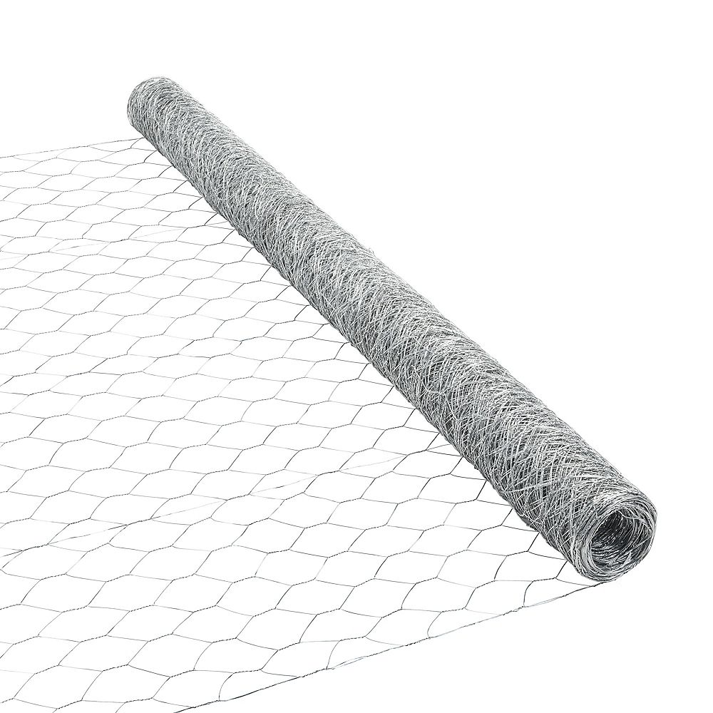 Peak Products 50 ft. L x 48-inch H Galvanized Steel Hexagonal Wire Netting with 2-inch x 2-inch Mesh Size