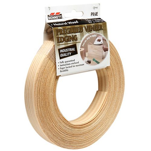 BENNETT 50 ft. x 13/16-inch Pre-Glued Pine Natural Edging