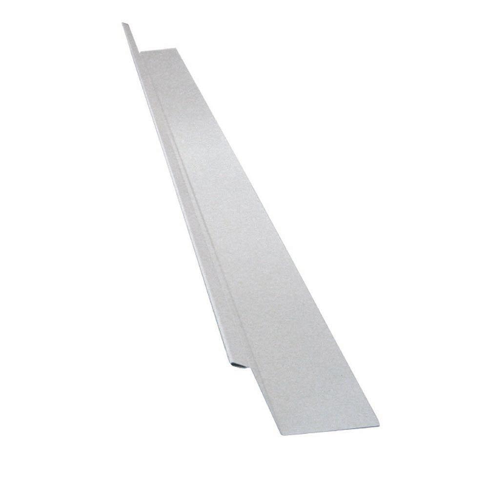 Peak Products Drip Flashing, 2 x 7/8 x 3/8 In. - White Galvanized