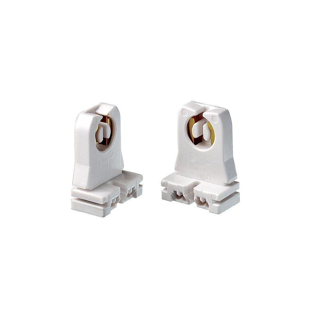 Leviton Fluorescent Lamp holder Short Type, White