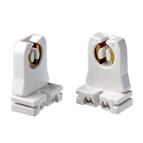 Fluorescent Lamp holder Short Type, White