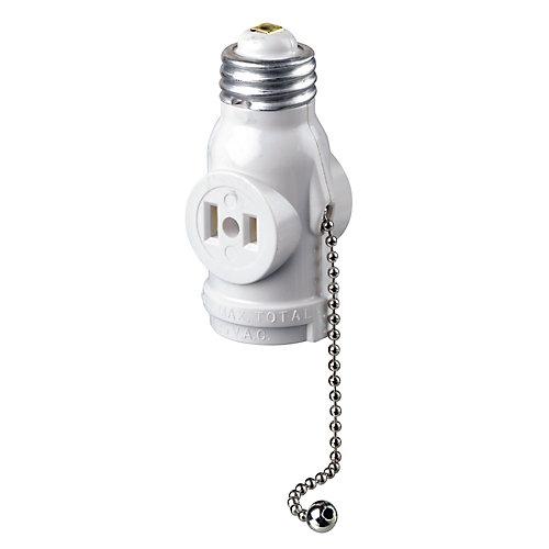 Socket Pull chain, White