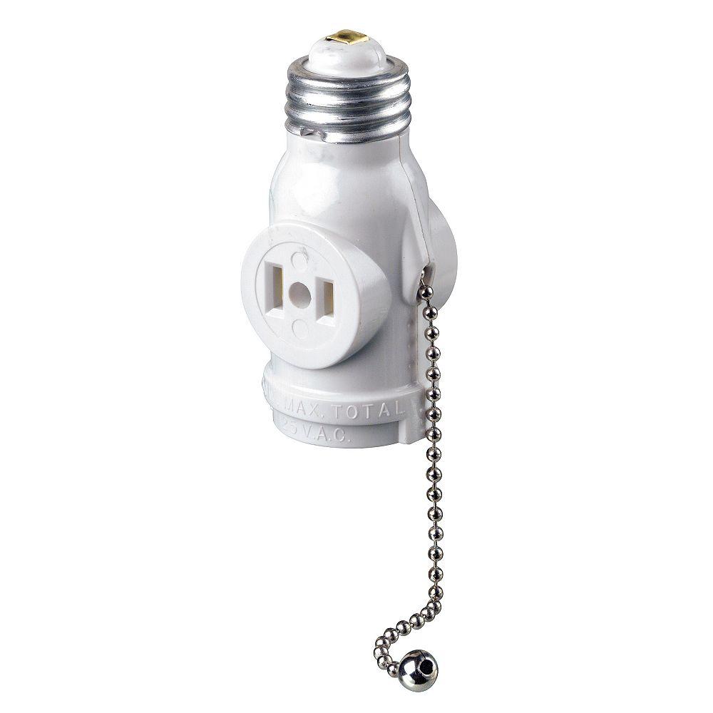 Leviton Socket Pull chain, White