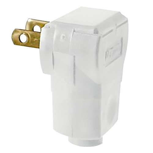 Easy Wire Angle Plug, White
