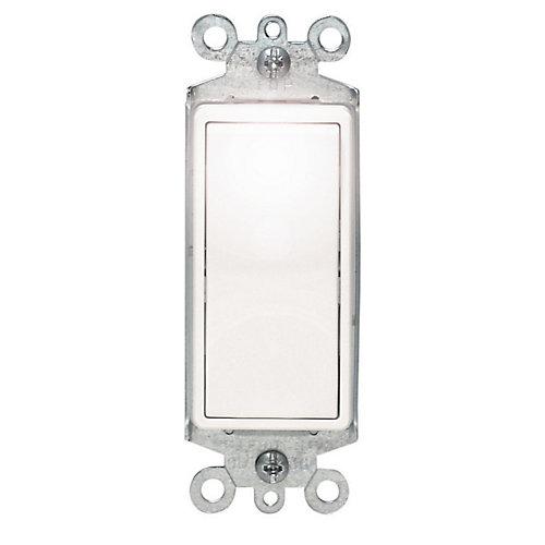 Decora Single-Pole Illuminated Switch, White
