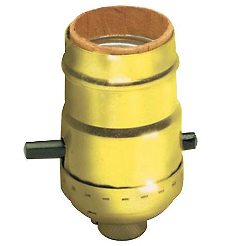 Medium Base Electrolier Push-Through Incandescent Lamp holder