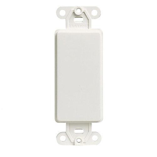 Decora Blank Adapter Plate, White