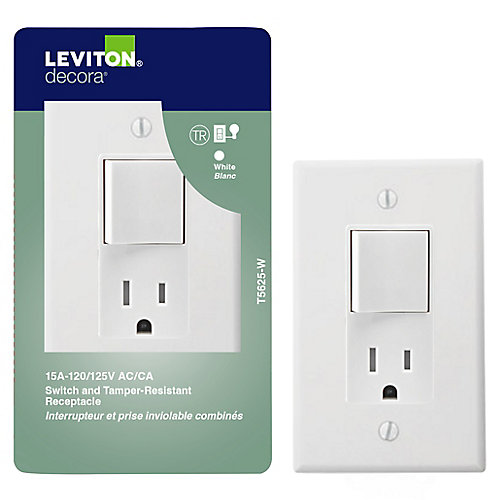 Decora Combination Switch/Receptacle, White