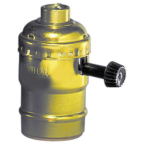 Socket Turnknob, Brass