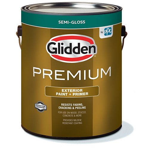 Exterior Paint + Primer Semi-Gloss - Medium Base 3.6 L